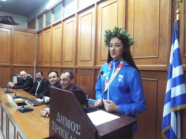 Η Αντιπεριφέρεια Τρικάλων βραβεύει την Φένια Τζέλη