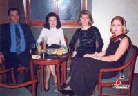 Gala bar χειμώνας του 1995   Στέφανος Καραγιώργος, Φανή Καραγιώργου, Έφη Σαμαρά και Βάσω Χήρα