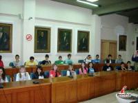 Μαθητές του Γυμνασίου Βαλτινού στο Δημαρχείο Τρικκαίων