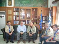 Η προσκοπική ομάδα  αποτελείτο από τους: Γιάννη Τσαγκούλη, πρόεδρο Επιτροπής Κοινωνικής Θεσσαλίας, Τσιόγκα Κων/νο, Περιφερειακό Εφορο Τρικάλων, Μιλτιάδη Ιορδανίδη, έφορο προσκοπικού προγράμματος και Πνάκα Κων/νο, έφορο Διοίκησης.