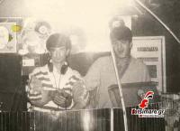 Θοδωρής Κουβεντάρας και Φάνης Τίκος στο d.j. hause της  Disco
