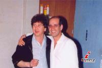 Ο αείμνηστος Νίκος Βάρρας με τον παιδικό του φίλο Δημήτρη Μητροπάνο που επίσης χάσαμε πρόσφατα...