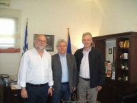Συνάντηση με τον Διευθυντή Ι.Κ.Α. Τρικάλων & τον Προϊστάμενο Ι.Κ.Α. Πύλης  ο Δήμαρχος Πύλης