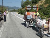 Eργασίες συντήρησης και διαγράμμισης του ορεινού οδικού δικτύου Καλαμπάκας