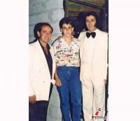 Ο Νίκος Σιάφης με τον γυιό του και τον Σταμάτη Κόκοτα