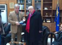 Επίσκεψη του Αλβανού Δημάρχου στο Δήμαρχο Χ. Λάππα
