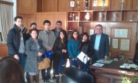 Μαθητές του 2ου Γυμνασίου Τρικάλων στο δημαρχείο