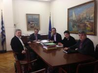 Συνάντηση  Πανελλήνιας Ομοσπονδίας των Εξωτερικών Φρουρών με Βλαχογιάννη και Σταϊκούρα