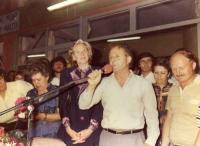1985 επίσκεψη Μαργαρίτας Παπανδρέου στην Κρήνη Τρικάλων.
