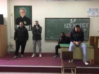 Επίσκεψη στο 7ο Γυμνάσιο και δείπνο προέδρου στην ομάδα του Τρίκαλα BC Aries