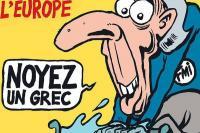 Σοκάρει το εξώφυλλο του Charlie Hebdo: Σώστε την Ευρώπη, πνίξτε έναν Έλληνα - Δείτε το