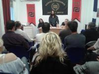Με επιτυχία η εκδήλωση της Χρυσής Αυγής στα Τρίκαλα