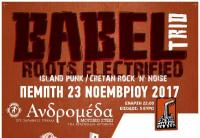 BABEL TRIO - Πέμπτη 23 Νοεμβρίου στην Ανδρομέδα μουσικό στέκι