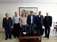 Tο διοικητικό συμβούλιο του συλλόγου Ιεροψαλτών στον Δήμαρχο Καλαμπάκας