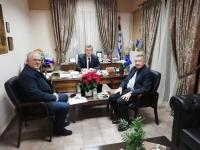 Συνάντηση Γεώργιου Κωτσού με τον καθηγητή Ξενοφώντα Σπηλιώτη