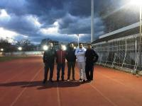 Ηλεκτροφωτισμός από τον Δήμο Τρικκαίων πέριξ του ταρτάν του Δημοτικού Σταδίου