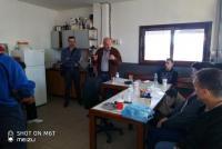 Περιοδεία του Υποψήφιου Δήμαρχου Γιώργου Καΐκη  στο Αμαξοστάσιο του δήμου Τρικκαίων