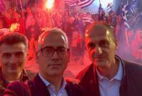 Ανάμεσα σε Τρικαλινούς φίλους, στην ομιλία του Κυριάκου Μητσοτάκη, στη Λάρισα ο Χρίστος Λιάπης