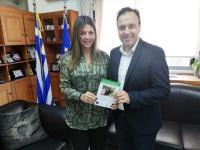 Η κ. Ζαχαράκη στον Δήμο Τρικκαίων και εφ' όλης συζήτηση για Παιδεία και Εκπαίδευση