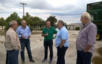 Επίσκεψη αντιπροσωπείας του ΚΚΕ στις χαλαζόπληκτες περιοχές