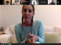 Πραγματοποιήθηκε η τηλεδιάσκεψη με τη συγγραφέα κα Πηνελόπη Κουρτζή