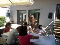 Πραγματοποιήθηκε το εργαστήριο ζωγραφικής με την αγιογράφο Φανή Καραγγέλη