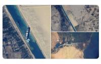 Δορυφορικές εικόνες από την κλειστή Διώρυγα του Σουέζ