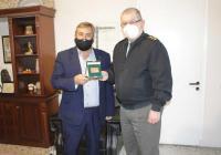 Ο νέος Διοικητής της ΣΜΥ Ταξίαρχος Κωνσταντίνος Δαλάκη στο Δημαρχείο Πύλης