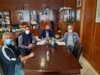 Διοίκηση και προπονητής του ΑΟ Δήμητρας Απόλλων στον Μιχαλάκη